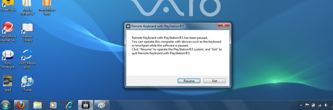 PS3 Releases Remote Keyboard Software for VAIO