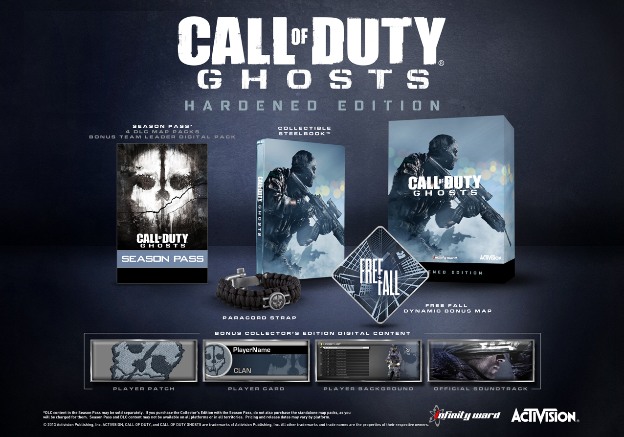 Call of Duty: Ghosts Hardened and Prestige Editions ... Ghosts Map Pack on ghosts games, ghosts cod, ghosts call of duty,