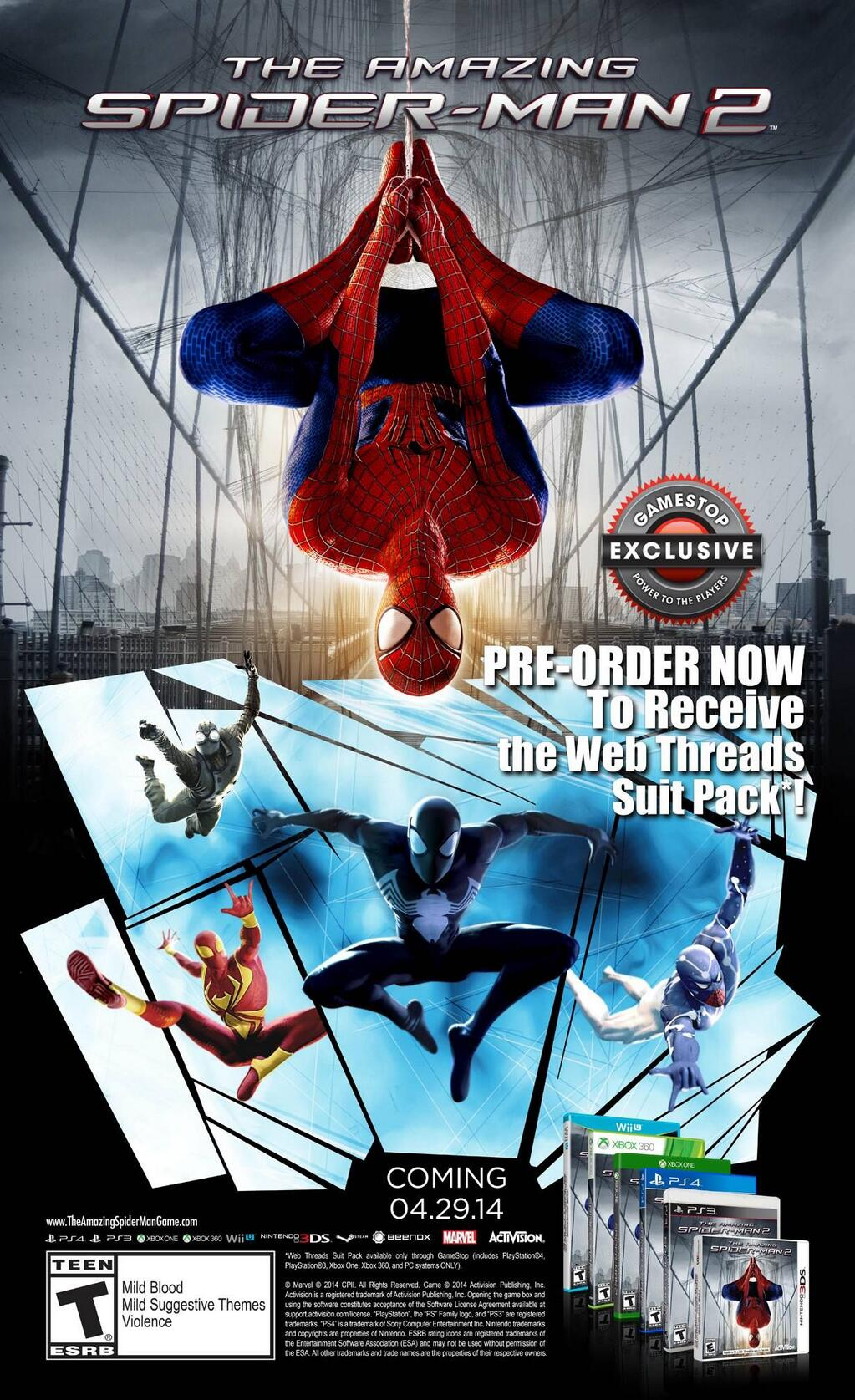 the amazing spider-man 2 release dates set - playstation lifestyle
