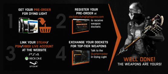Dying Light Pre-Order Weapons