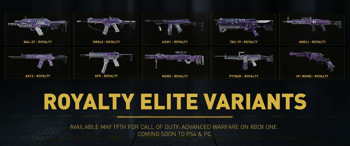 New Call Of Duty Advanced Warfare Weapon Variants Coming Soon To Ps4