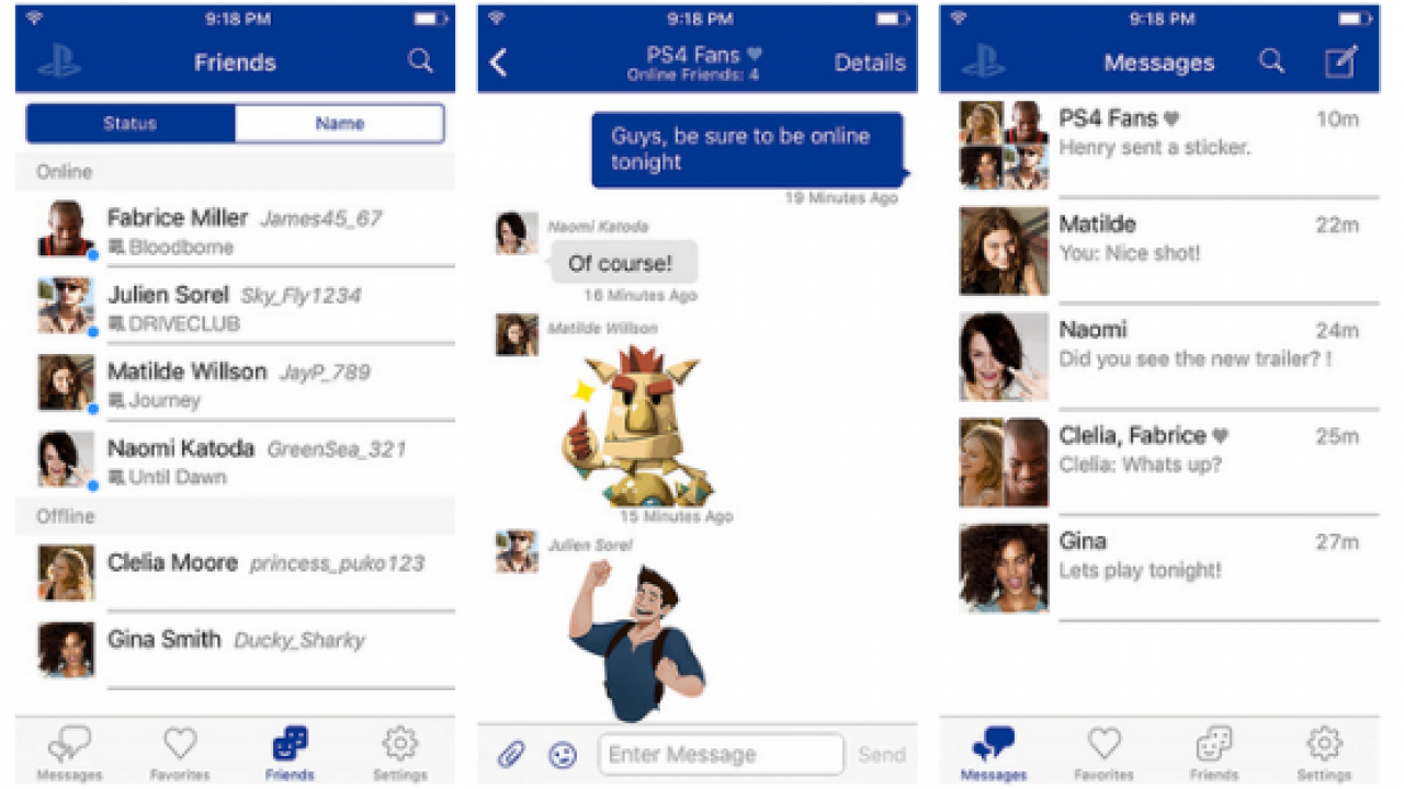 PlayStation Messages App Available on iOS and Android, Lets