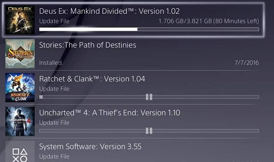 does the ps4 download games faster in rest mode