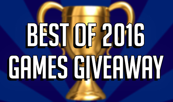 Best of 2016 Games Giveaway