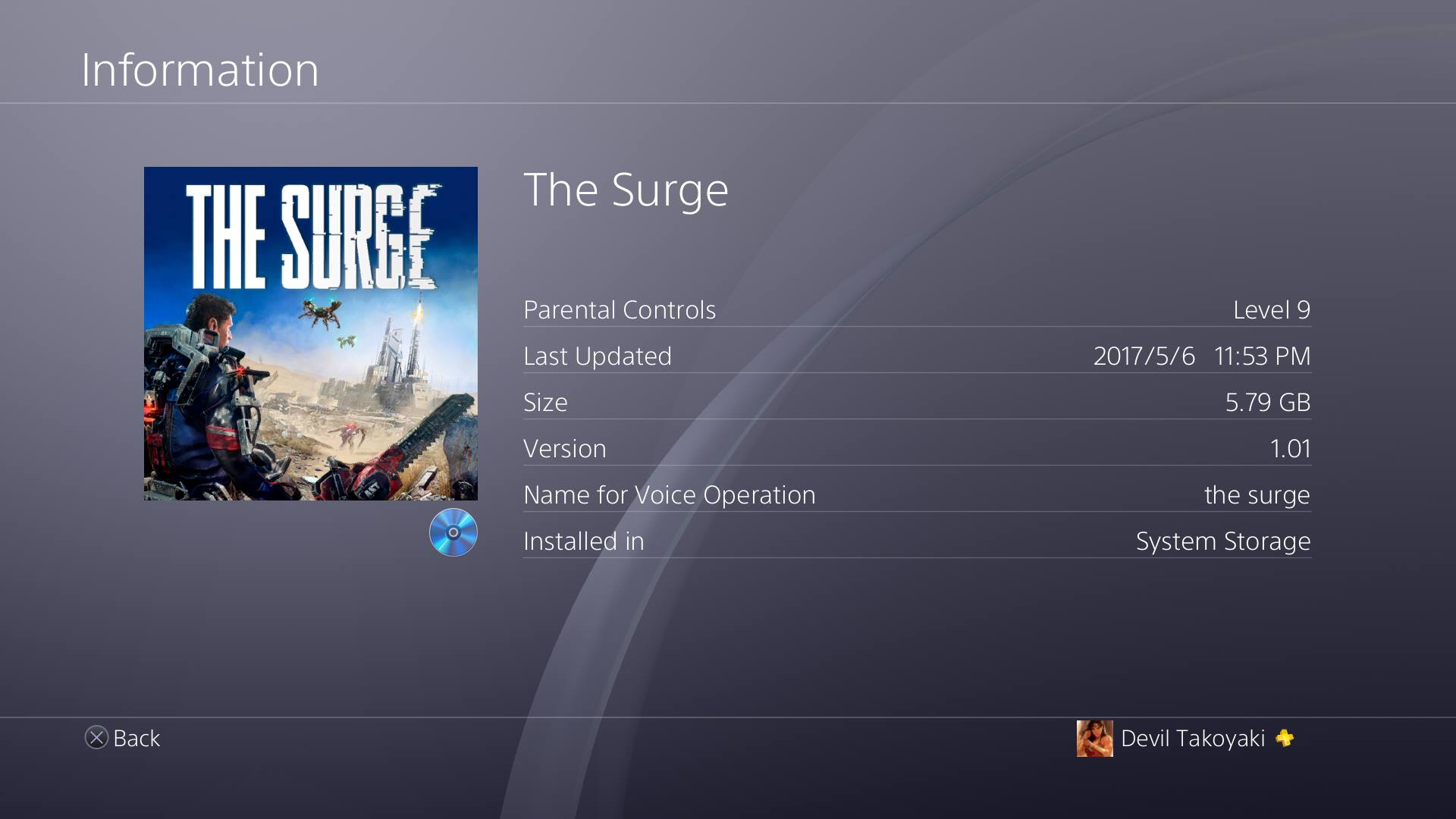 The Surge PS4 Size Revealed
