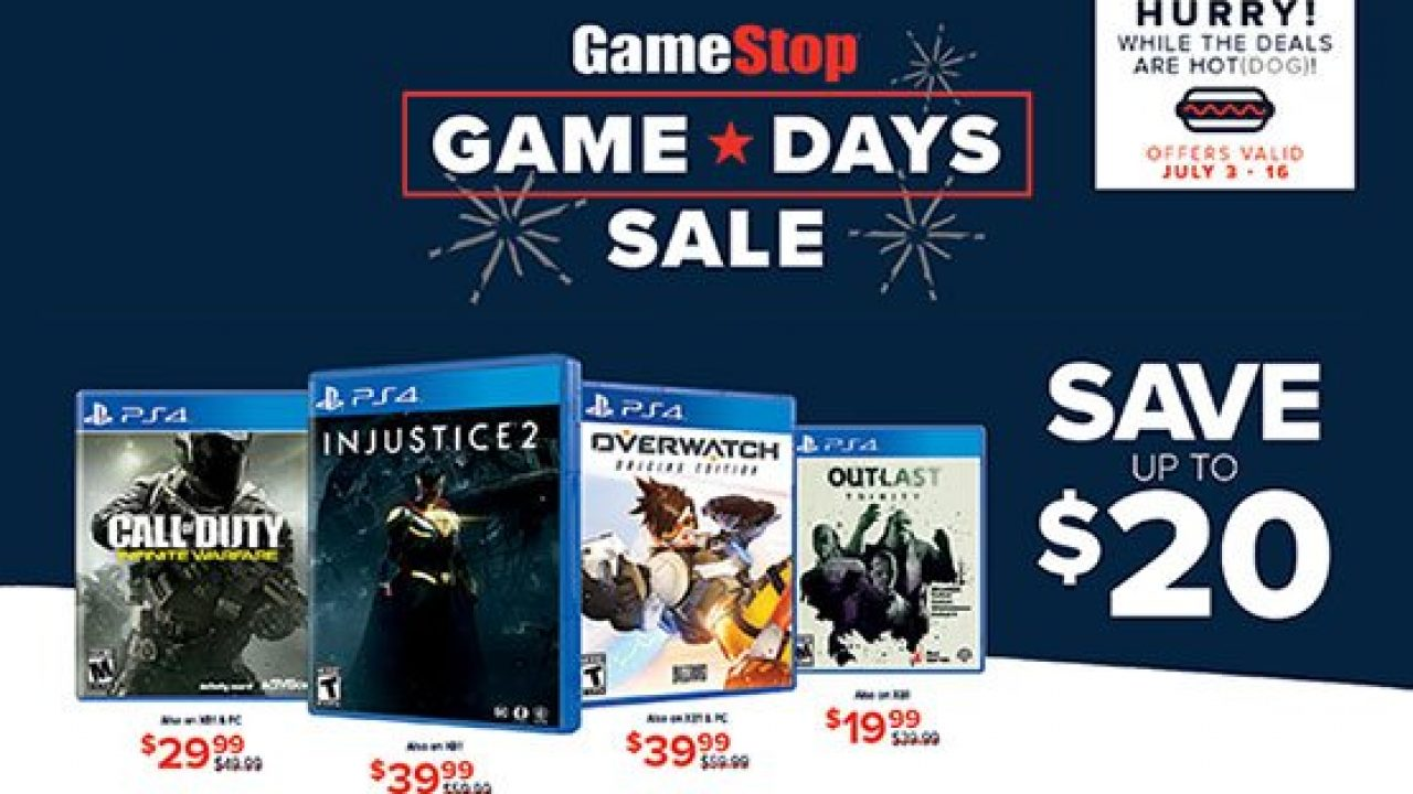 Gamestop Sale For Fourth Of July Game Days Sale Runs From July 3 To 16