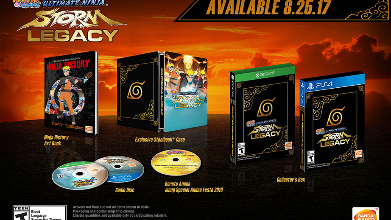 Naruto Shippuden: Ultimate Ninja Storm Legacy Out Now