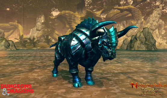 Neverwinter teal stained gorgon mount