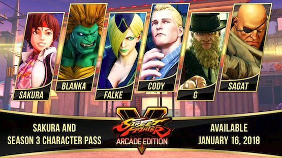 street fighter v season 3 DLC characters