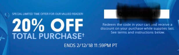 ps4 coupons codes