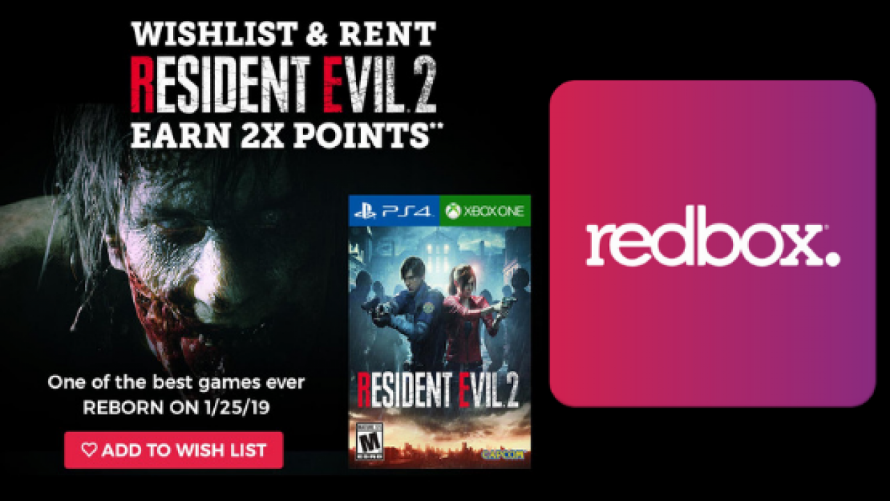 Resident Evil 2 Redbox Rental Will Be Available Day One