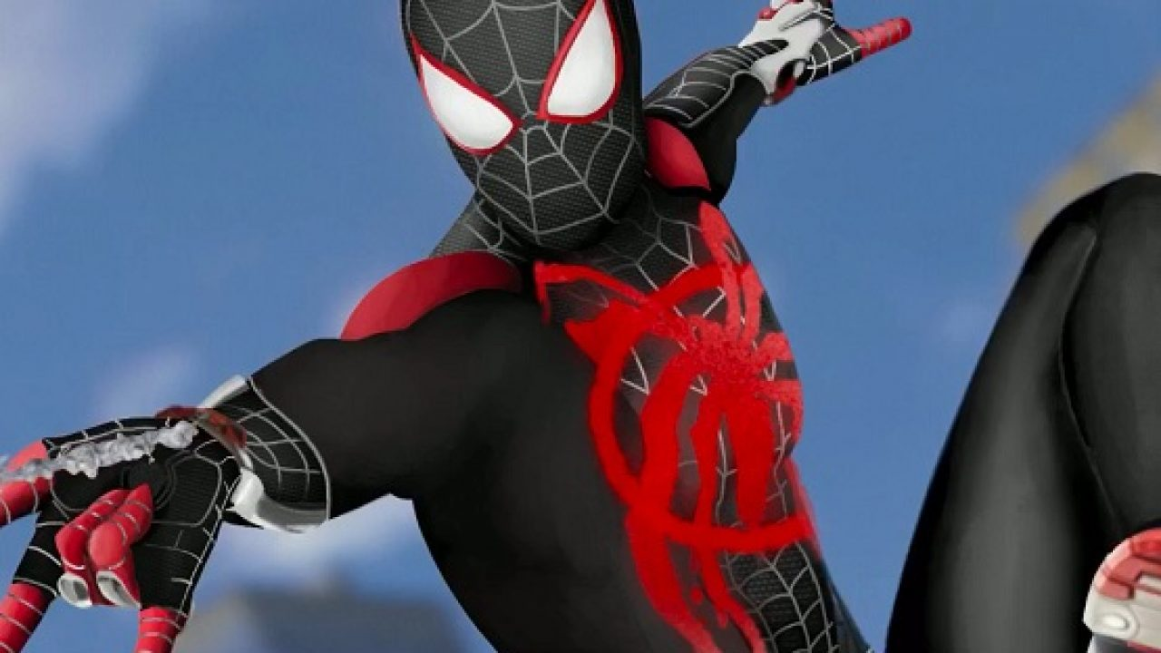 This Marvel's Spider-Man Into the Spider-Verse Suit Concept