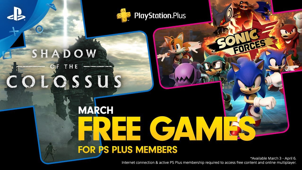 PlayStation Plus PS Plus March 2020 free games
