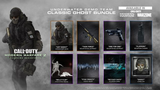 Call of Duty Modern Warfare 2 Campaign Remastered Ghost bundle