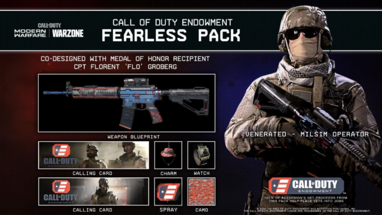 Modern Warfare Fearless Pack Warzone T Shirt Supports Call Of