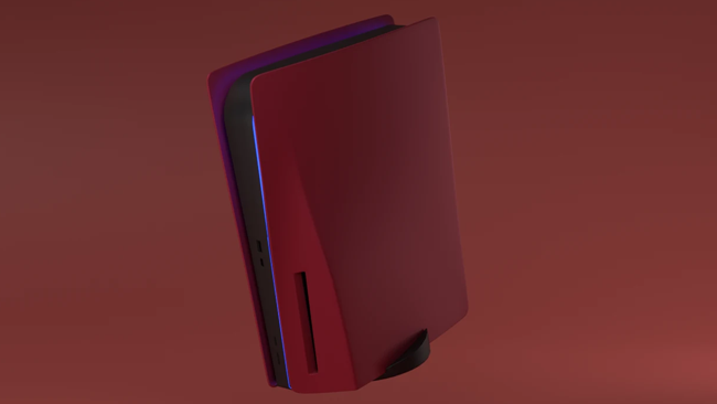 platestation5 custom ps5 faceplates outer shell cherry red