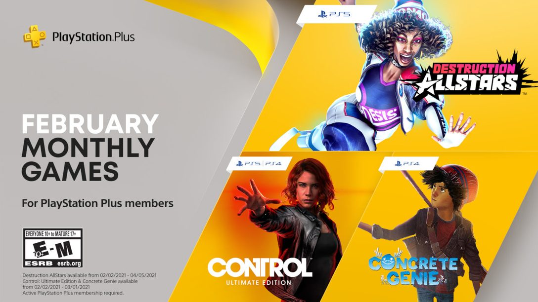 february 2021 playstation plus games free