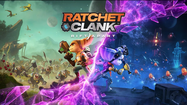 ratchet and clank rift apart release date key art