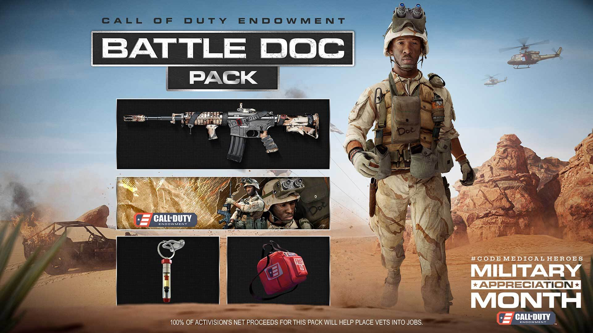 Call of duty endowment C.O.D.E. Battle Doc Pack warzone black ops cold war