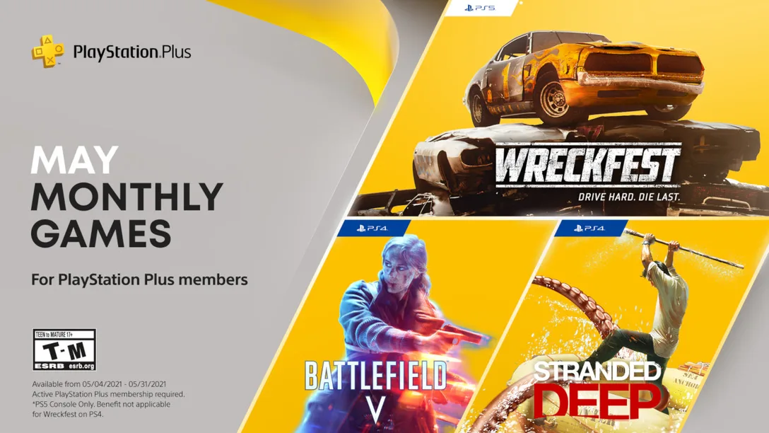 May 2021 PS Plus free games